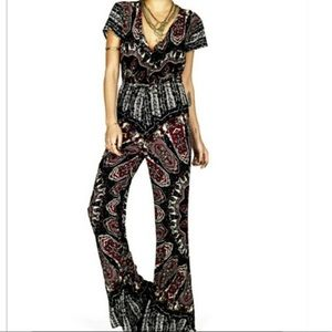 NOVELLA ROYALE NWT retro paisley pattern jumpsuit